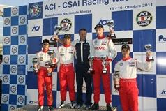 podium race 1, CAMPIONATO ITALIANO FORMULA ACI CSAI ABARTH