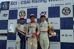 Podio gara 1, Eddie Cheever (Prema Powerteam Srl, Dallara F308 FPT 420 #4), Riccardo Agostini (JD Motorsport, Mygale M10 FPT 420 #25), Mario Marasca (BVM Srl, Dallara F308 FPT 420 #2) , ITALIAN FORMULA 3 CHAMPIONSHIP