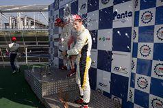 Podio gara 1, Eddie Cheever (Prema Powerteam Srl, Dallara F308 FPT 420 #4), Riccardo Agostini (JD Motorsport, Mygale M10 FPT 420 #25), Mario Marasca (BVM Srl, Dallara F308 FPT 420 #2), ITALIAN FORMULA 3 CHAMPIONSHIP