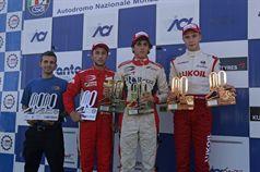 Podio gara 2, Eddie Cheever (Prema Powerteam Srl, Dallara F308 FPT 420 #4), Brandon Maisano (Prema Powerteam Srl, Dallara F308 FPT 420 #5), Sergey Sirotkin (Euronova R.By Fortec, Dallara F308 FPT 420 #12), ITALIAN FORMULA 3 CHAMPIONSHIP