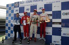 Podio gara 2, Eddie Cheever (Prema Powerteam Srl, Dallara F308 FPT 420 #4), Brandon Maisano (Prema Powerteam Srl, Dallara F308 FPT 420 #5), Sergey Sirotkin (Euronova R.By Fortec, Dallara F308 FPT 420 #12) , ITALIAN FORMULA 3 CHAMPIONSHIP