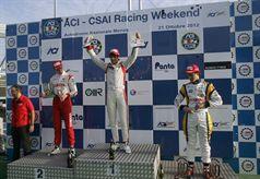 Podio gara 3, Kevin Giovesi (Ghinzani Arco Motorsport, Dallara F308  FTP 420 #14), Sergey Sirotkin (Euronova R.By Fortec, Dallara F308 FPT 420 #12), Mario Marasca (BVM Srl, Dallara F308 FPT 420 #2), ITALIAN FORMULA 3 CHAMPIONSHIP