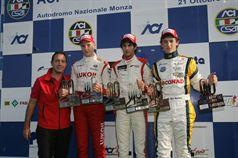 Podio gara 3, Kevin Giovesi (Ghinzani Arco Motorsport, Dallara F308  FTP 420 #14), Sergey Sirotkin (Euronova R.By Fortec, Dallara F308 FPT 420 #12), Mario Marasca (BVM Srl, Dallara F308 FPT 420 #2) , ITALIAN FORMULA 3 CHAMPIONSHIP