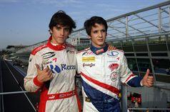 Eddie Cheever (Prema Powerteam Srl, Dallara F308 FPT 420 #4), Riccardo Agostini (JD Motorsport, Mygale M10 FPT 420 #25) , ITALIAN FORMULA 3 CHAMPIONSHIP