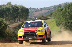 Pablo Biolghini, Giuseppe Morina (Mitsubishi Lancer Evo X R4 #10), TROFEO RALLY TERRA