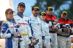 Podio_ Mauro Trentin, Alice Di Marco (Peugeot 207 S2000 #4) Luigi Ricci, Cristine Pfister (Subaru Impreza R4 #5) Fabio Gianfico, Rossetto Tolino (Mitsubishi Lancer EVO IX #6), TROFEO RALLY TERRA