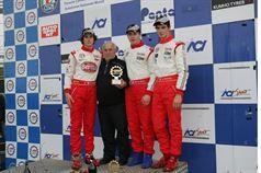 Podio gara 1, Dario Orsini (NBC Group,F.Aci Csai Tatuus FA 010 FPT #58), Michele Beretta (Euronova R.by Fortec, F.Aci Csai Tatuus FA010 FPT #1), Alessio Rovera (Cram Motorsport Srl, F.Aci Csai Tatuus FA 010 FPT,#12)  , CAMPIONATO ITALIANO FORMULA ACI CSAI ABARTH