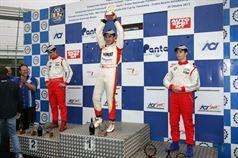 Podio gara 3, Denis Nagulin (Cram Motorsport,F.Aci Csai Tatuus FA010 FPT #7), Alessio Rovera (Cram Motorsport Srl, F.Aci Csai Tatuus FA 010 FPT,#12), Dario Orsini (NBC Group,F.Aci Csai Tatuus FA 010 FPT #58), CAMPIONATO ITALIANO FORMULA ACI CSAI ABARTH