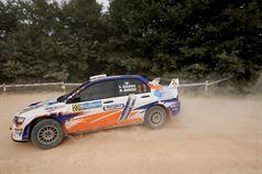 Rudi Barbero, Maya Barbero (Mitsubishi Lancer Evo IX #23, Meteco Corse);, TROFEO RALLY TERRA