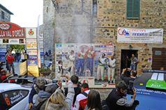 Podio: Alessandro Taddei, Andrea Gaspari (Ford Focus WRC #8, Car Racing), Luciano Cobbe, Fabio Turco (Ford Focus WRC #5, Meteco Corse Srl), Luca Hoelbling, Mauro Grassi (Skoda Fabia R R5 #11, Car Racing), TROFEO RALLY TERRA