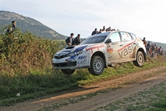 Luigi Ricci (ITA) Cristina Pfister (ITA) Subaru Impreza STI N14, Movisport, TROFEO RALLY TERRA